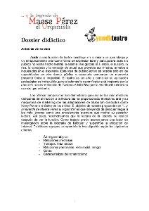 Maese Pérez - Dossier didáctico